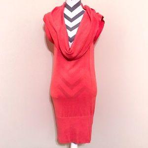 BCBG MaxAzria Sleeveless Cowl Neck Sweater Dress